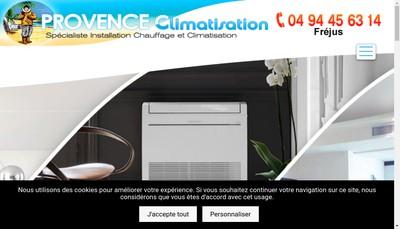 Site internet de Provence Climatisation