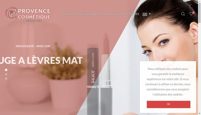 Site internet de Provence Cosmetique