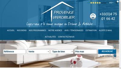 Site internet de Provence Immobilier