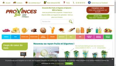 Site internet de Provinces Bio Produits Naturels