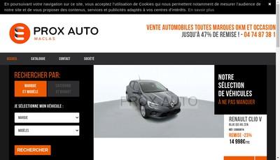 Site internet de Prox-Auto