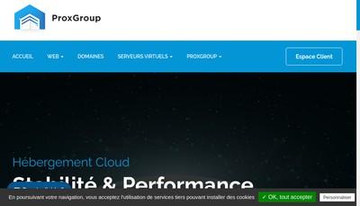 Site internet de Proxgroup
