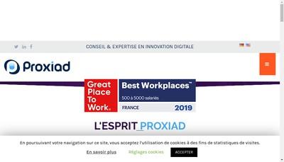 Site internet de Proxiad Axe Seine