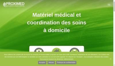 Site internet de Proximed Services