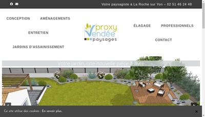 Site internet de Proxy Vendee Jardins