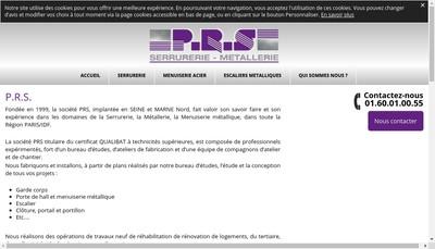 Site internet de PRS