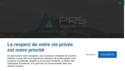 Site internet de Prs Technologies
