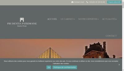 Site internet de Prudentia Patrimoine