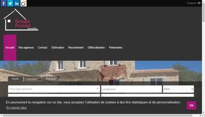 Site internet de Groupe Pruvost Immobilier