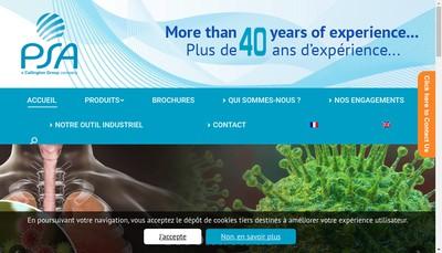 Site internet de Produits Sanitaires Aeronefs