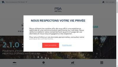 Site internet de Psa Retail Quentin-Yvelines