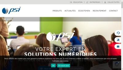 Site internet de Psi Info-Progiciel-Cyber Shop Multimedia