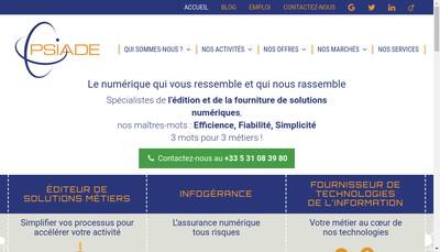 Site internet de Psiade