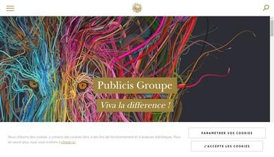Site internet de Publicis Groupe Services