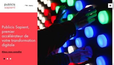 Site internet de Publicis Sapient France Dbt