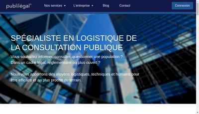Site internet de Publilegal