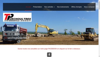 Site internet de SARL Puechoultres Fils