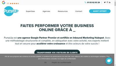 Site internet de Pumpup