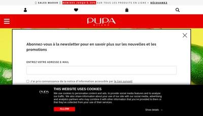 Site internet de Pupa France