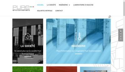 Site internet de Pure Environnement