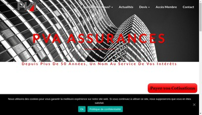 Site internet de Pva Assurances