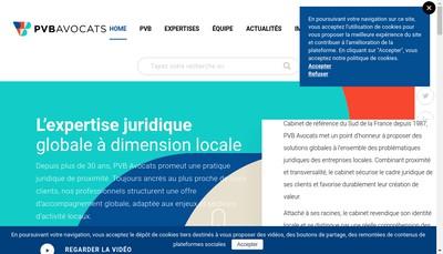 Site internet de PVB Societe d'Avocats