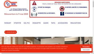Site internet de Pvs Tapis