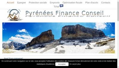 Site internet de Pyrenees Finance Conseil