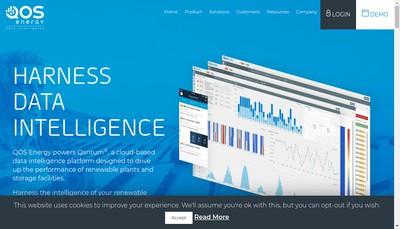Site internet de Qos Energy