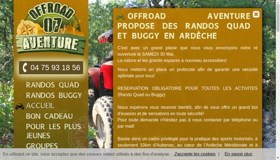 Site internet de Offroad Aventure 07 Circuit Aubenas Lanas