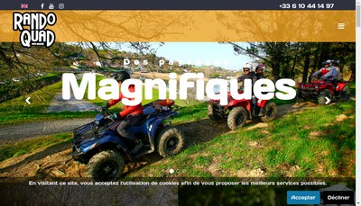 Site internet de Quad Pays Basque
