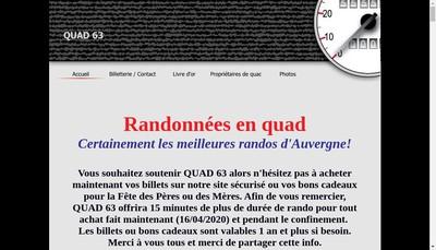 Site internet de Quad 63