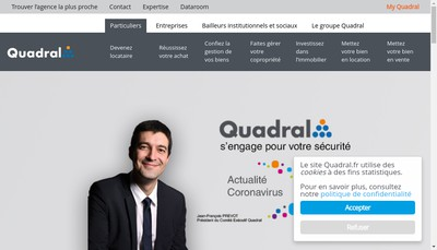 Site internet de Quadral