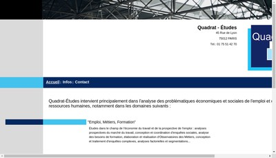 Site internet de Quadrat-Etudes