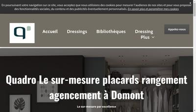 Site internet de Quadro Agencements Placards Cuisines