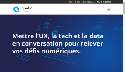 Site internet de Qualia Services - Aidepme - Masterview T