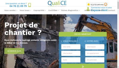 Site internet de Qualice