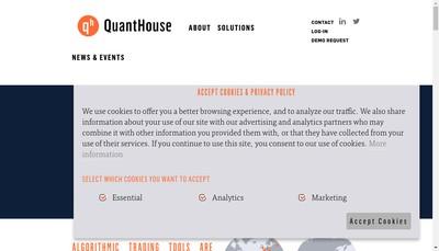 Site internet de Quant House