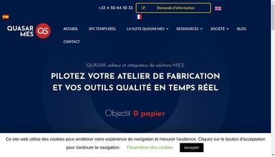 Site internet de Quasar Solutions