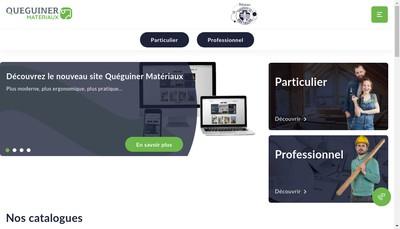 Site internet de Queguiner Materiaux