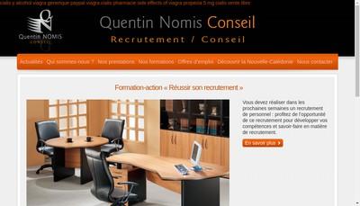Site internet de Quentin Nomis Conseil