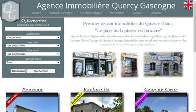 Site internet de Agence Immobiliere Quercy Gascogne