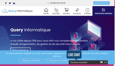 Site internet de Query Informatique