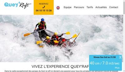 Site internet de EURL Quey'Raft