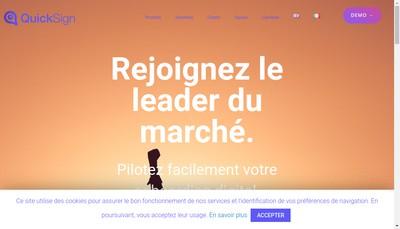 Site internet de Quicksign