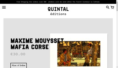 Site internet de Quintal Editions