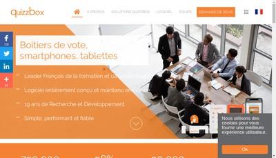 Site internet de Quizzbox Solutions