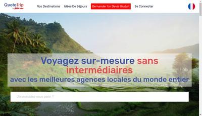Site internet de Quotatrip
