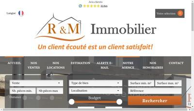 Site internet de R&M Immobilier