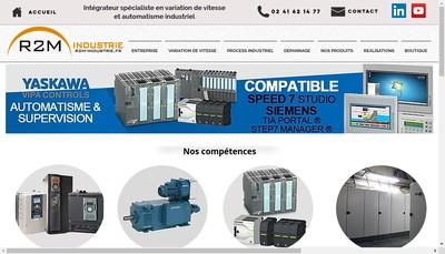 Site internet de R2M Industrie
